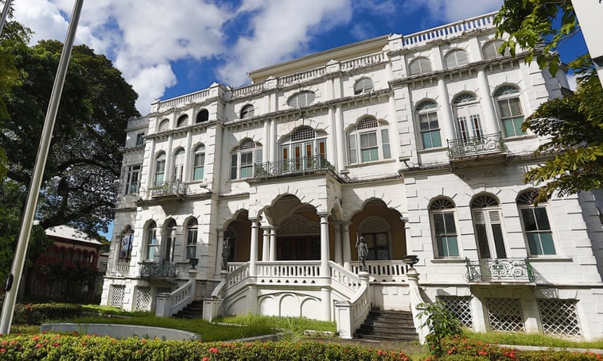 Whitehall, modelled on a Venetian-style palazzo, is the T&T prime minister's residence.