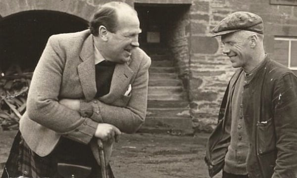 Lord Mackie, left, with his grieve (foreman) James Robbie at Ballinshoe