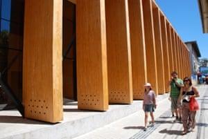 The portico of the city's new cultural centre.