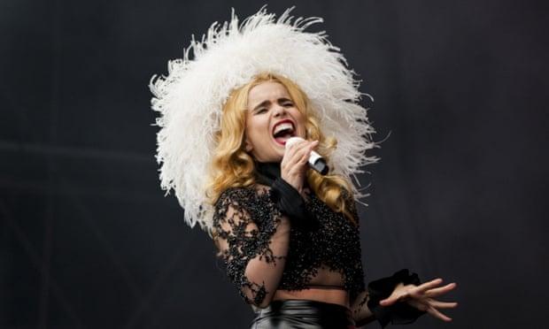 Paloma Faith picks up her first ever Brit award.