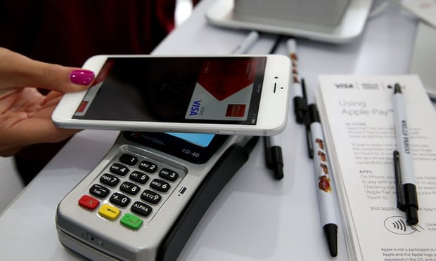 Banks have been surprised by the level of fraudulent payments made by criminals using Apple Pay. Photograph: Justin Sullivan/Getty Images