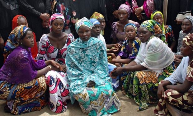 Some of the Chibok schoolgirls who escaped Boko Haram