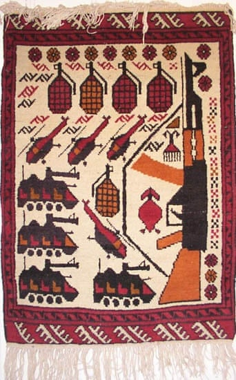 AFGHAN RUGS - WITH WAR DESIGNS