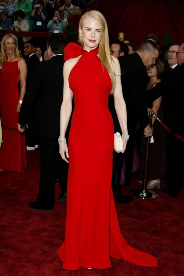 Offputting ... Nicole Kidman in high-neck Balenciaga. Photograph: Steve Granitz/WireImage