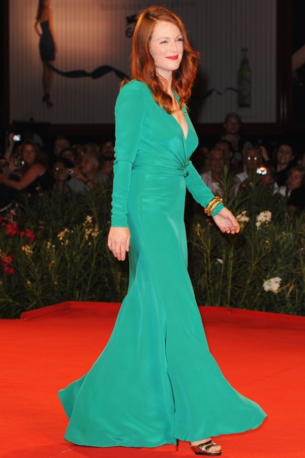 Forever emerald ... Julianne Moore. Photograph: Pascal Le Segretain/Getty Images