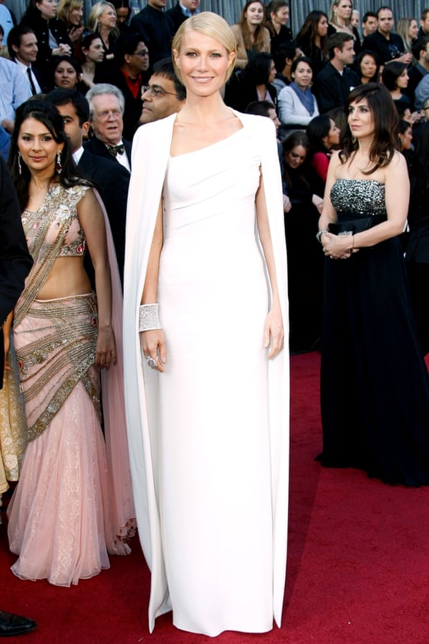 Cape crusader ... Gwyneth Paltrow in Tom Ford gown at the 2012 Oscars. Photograph: Dan MacMedan/WireImage
