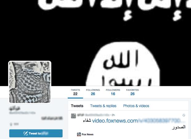 Isis tweet on FoxNews