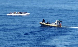 MIgrants rescued by Mare Nostrum patrol