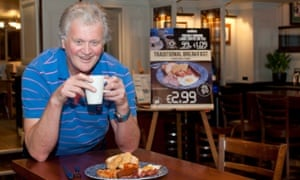 Tim Martin at a JD Wetherspoon.