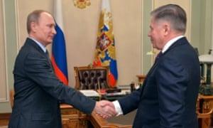 Vladimir Putin and Vyacheslav Lebedev