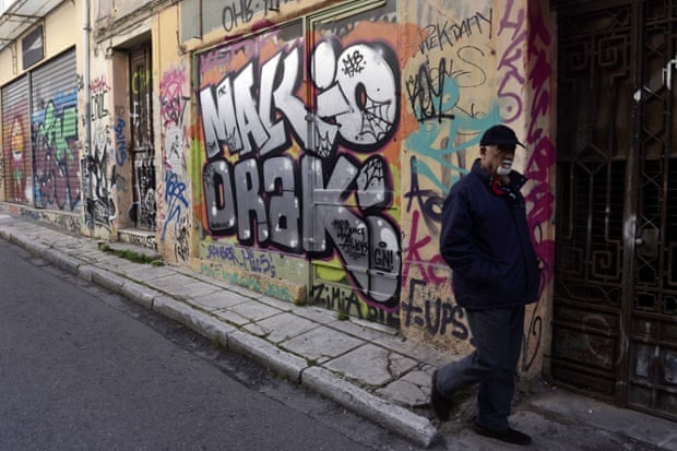 Athens, Greece:graffiti displays a contempt for community.