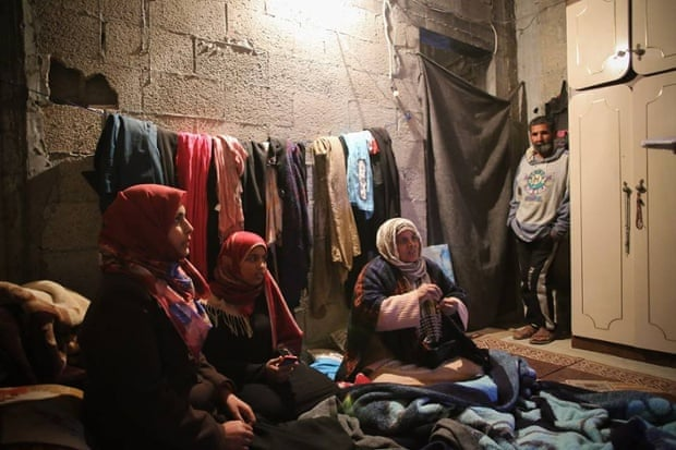 Rasha Qudaih and her family only have one habitable room to live in. She is finding it very difficult to continue her studies