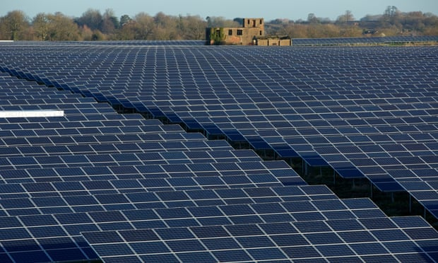 Many new solar farms are springing up.