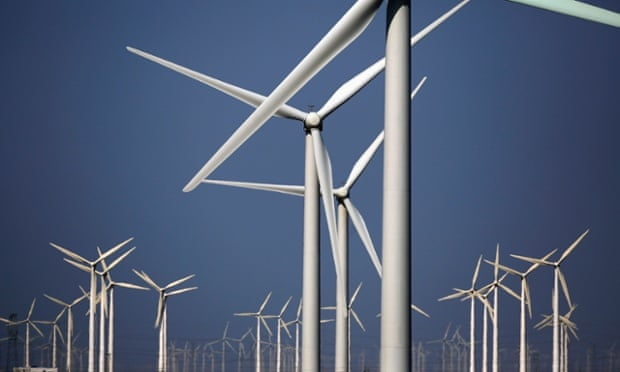 Georgetown, Texas has economic reasons for opting for renewable energy. Photograph: Carlos Barria/Reuters