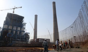 A Japanese funded coal-fired power plant under construction in India