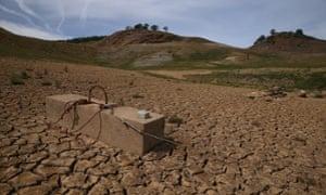 california drought lake mcclure la grange