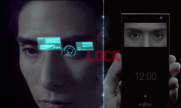 Fujitsu's iris-recognition phone software, which may make fingerprint scanners on mobiles redundant.