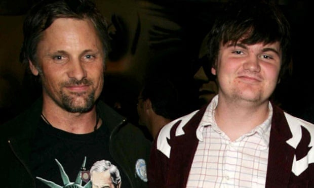 Viggo Mortensen with his son Henry.