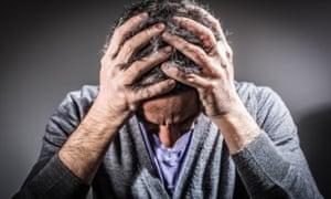 Depression mental health problems man suicidegstock