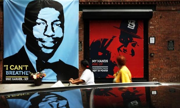 Eric Garner Mike Brown mural