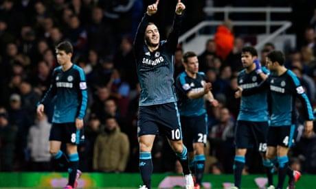 Eden Hazard goal edges Chelsea past West Ham to maintain league lead...