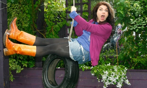 Caitlin Moran at her home in Crouch End, London.