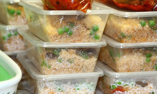 Food in plastic containers