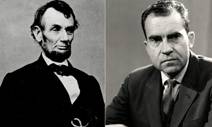 Abraham Lincoln, left and Richard Nixon