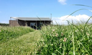 Tin house: glamping in the West Country.