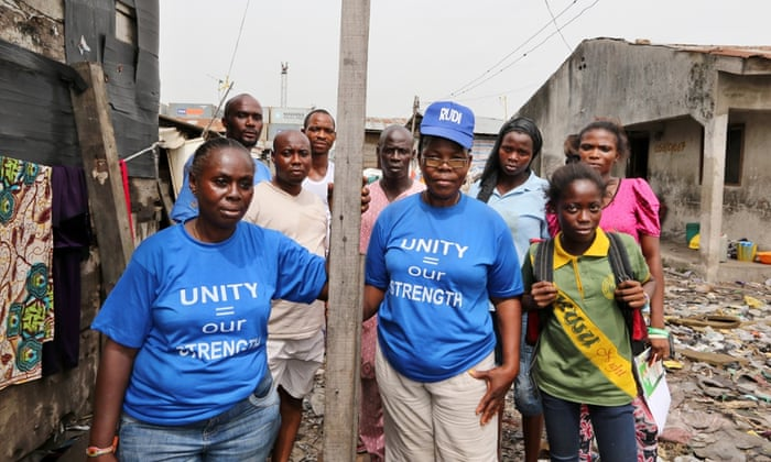 Residents of the Badia East slum in Lagos, who were evicted last year when the area was razed to make way for a World Bank-funded project.