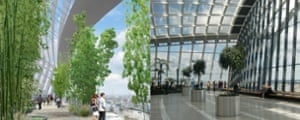 The Walkie Talkie 'Sky Garden' … vision vs reality.