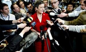Denmarks Economy Minister Margrethe Vest
