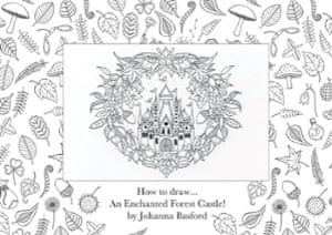 how to draw an enchanted forest title