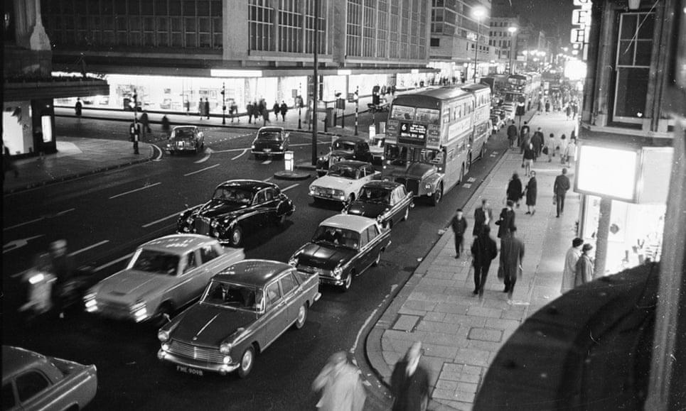 London's Oxford Street in 1965.