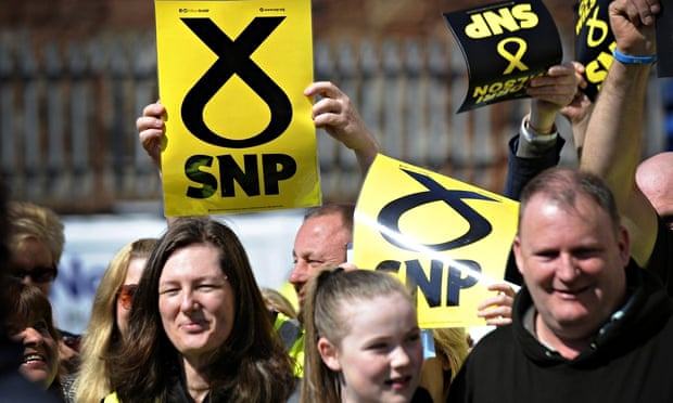 Supporters of the Scottish National Party