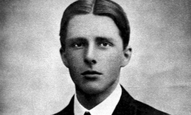 First world war poet Rupert Brooke, who died in April 1915