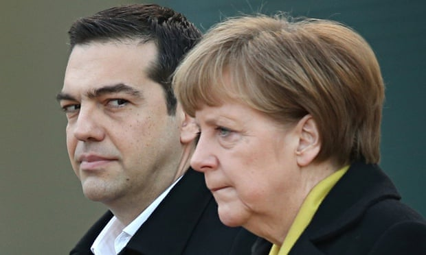 alexis Tsipras Meets  and angela Merkel In Berlin