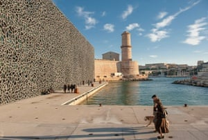 The Museum of Mediterranean Civilisations (MuCEM) and Fort Saint-Jean.