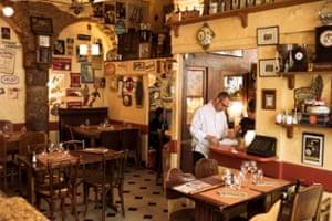 Le Canut et les Gones restaurant, in the Croix Rousse quartier.
