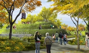 A CGI rendering of the trail at its western end.