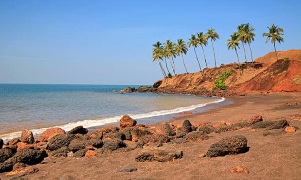 A beach at Redi, Konkan, Maharashtra
