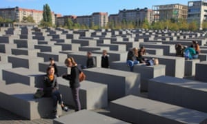 The Holocaust memorial in Berlin.