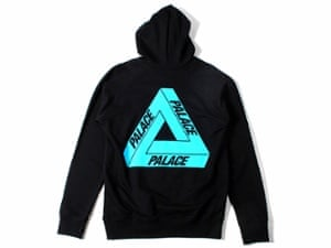 Palace's logoed hoodie