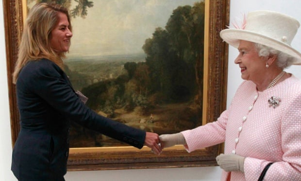 Tracey Emin meets the Queen at Margate's Turner Contemporary Gallery in 2011.