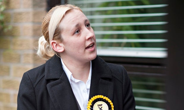 MHAIRI BLACK: the 20-year-old student poised to unseat Douglas.