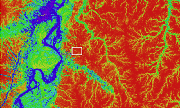 Carbon map of Peruvian Amazon rainforest