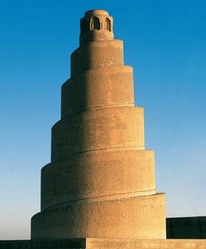 The spiral minaret of the  Great Mosque in Samarra, Iraq