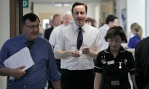 David Cameron during a visit to Frimley Park hospital.