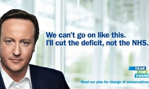 Pledge to protect the NHS … a Conservative party election poster from 2010