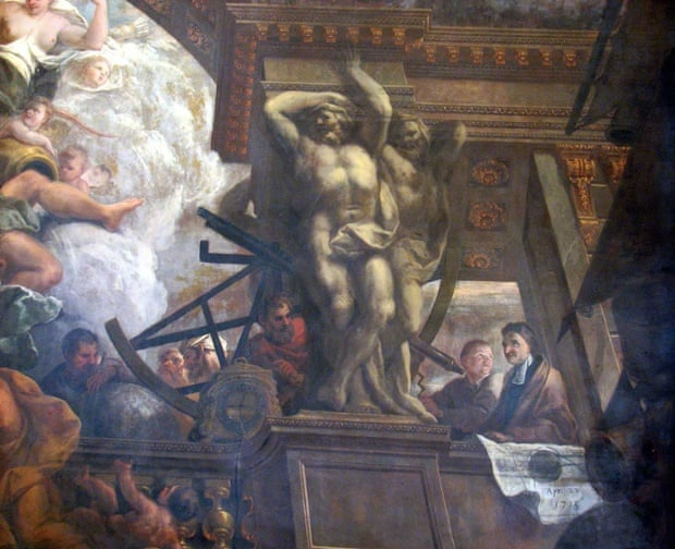 Flamsteed and Weston in Painted Hall, Greenwich